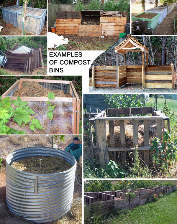 Various types of humanure compost bins. - The Humanure Handbook - Building A Humanure Compost Bin.