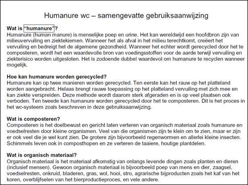Humanure Manual in the Dutch Language