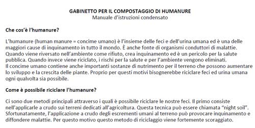 Humanure Handbook Manual in Italian Language